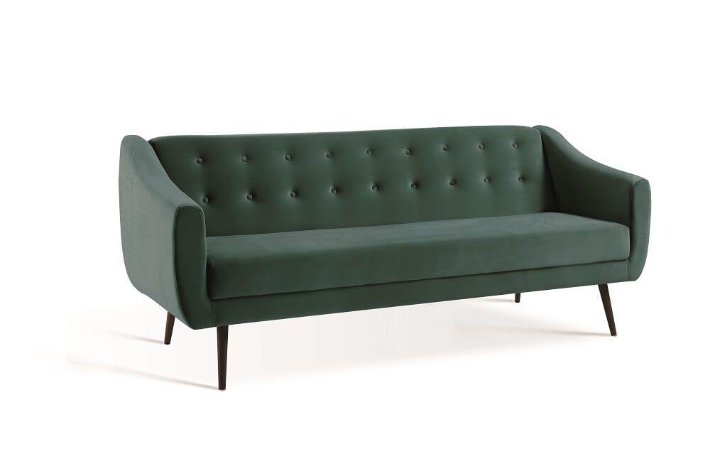 Sofa Cama Mimo  Verde Tecido Veludo