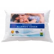 Travesseiro 50cm x 70cm Antialérgico Allergic Cover - Acompanha Capa 100% Algodão Percal 220 Fios
