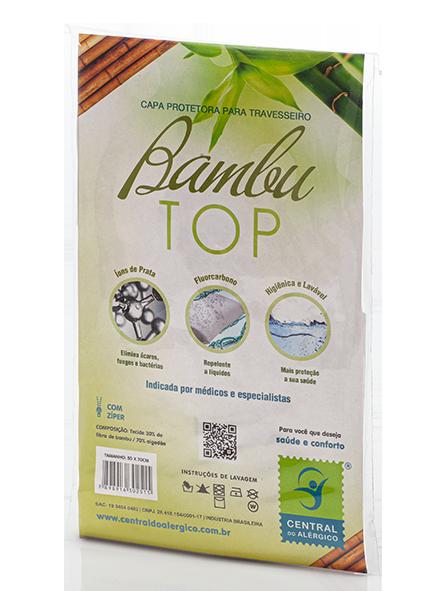 Capa Antiácaro e Antialérgica Para Travesseiro Junior Confeccionada em Tecido com fibra de bambu - Fechamento c/zíper