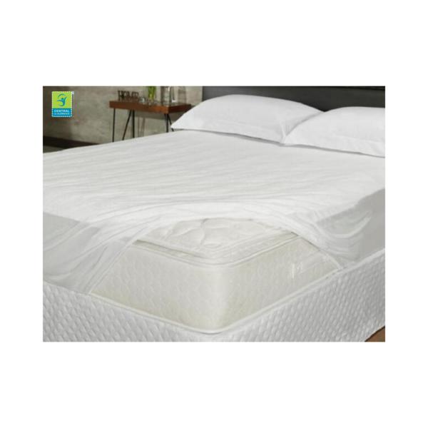 Capa Impermeável Antiácaro e Antialérgica Para Colchão Queen Percal 200 fios ALGODÃO/PVC Ultra Macio - Vapt Vupt (Elástico)