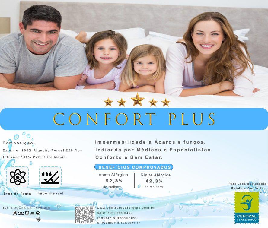 Capa Impermeável Antiácaro e Antialérgica Para Colchão King Percal 200 fios ALGODÃO/PVC Ultra Macio Fechamento c/zíper