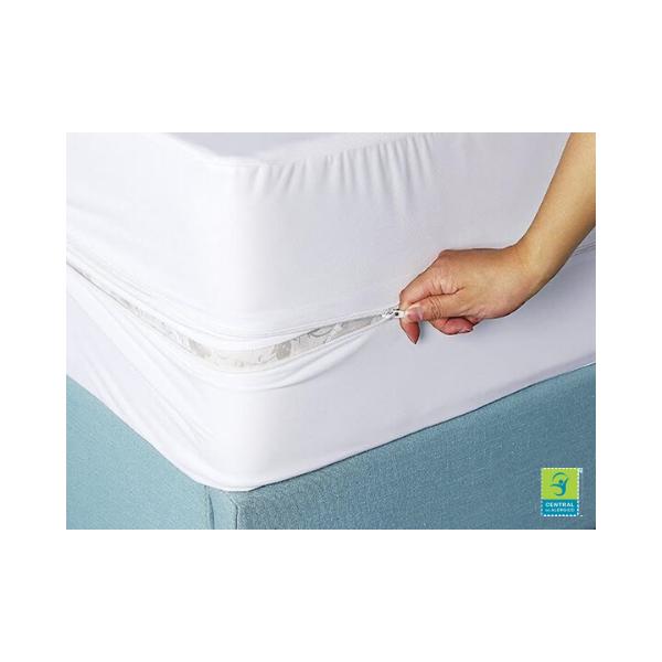 Capa Impermeável para Colchão Solteiro  100% PVC c/ziper