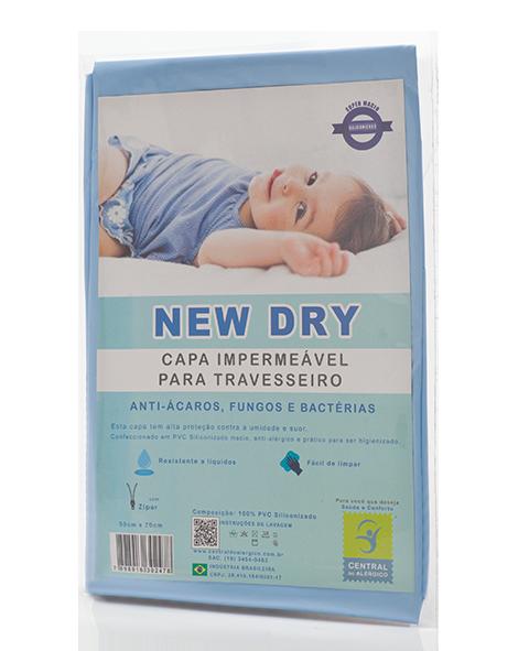 Capa Impermeável para Travesseiro Adulto New Dry 100% PVC Siliconizado - Fechamento c/ Zíper