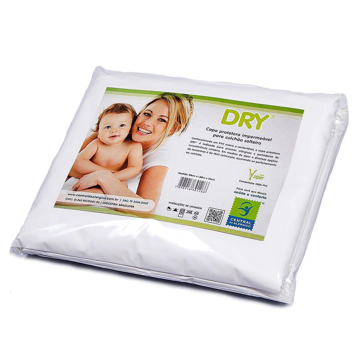 Capa Impermeável para Colchão Bebê 100% PVC Fechamento com ziper