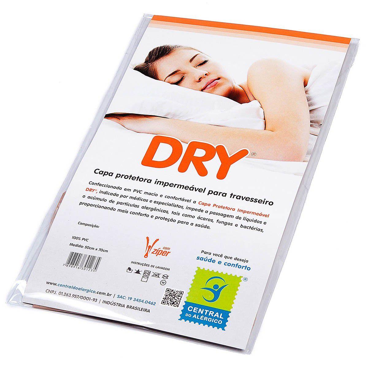 Capa Impermeável para Travesseiro Adulto 100% PVC  Fechamento com zíper