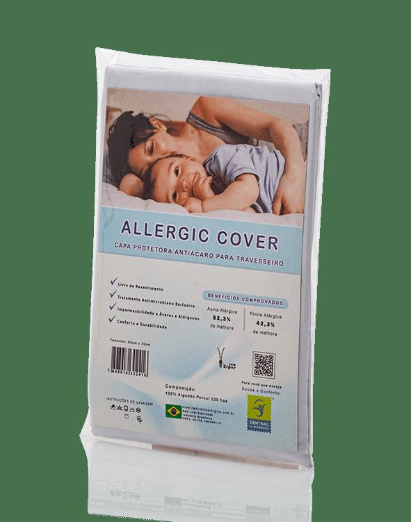 Capa Para Travesseiro Adulto Antiácaro e Antialérgica Allergic Cover 100% Algodão Percal 220 Fios - Livre de PVC
