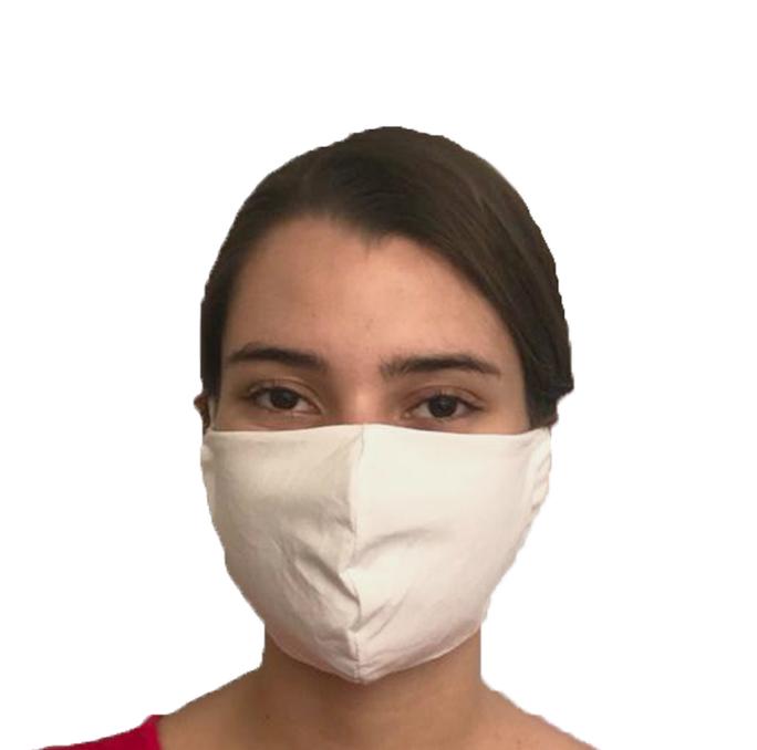 Kit 5 Máscaras Kids Em Tecido 100% Algodão Percal 200 Fios Lavável Com Tratamento Antimicrobiano