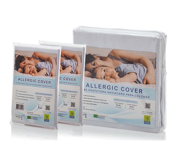 Kit Antiácaro Casal Allergic Cover Com Zíper