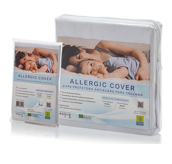 Kit Antiácaro Solteiro Allergic Cover Com Zíper