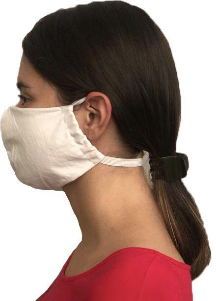 Par de Máscaras Adulto Em Tecido 100% Algodão Percal 200 Fios Lavável Com Tratamento Antimicrobiano