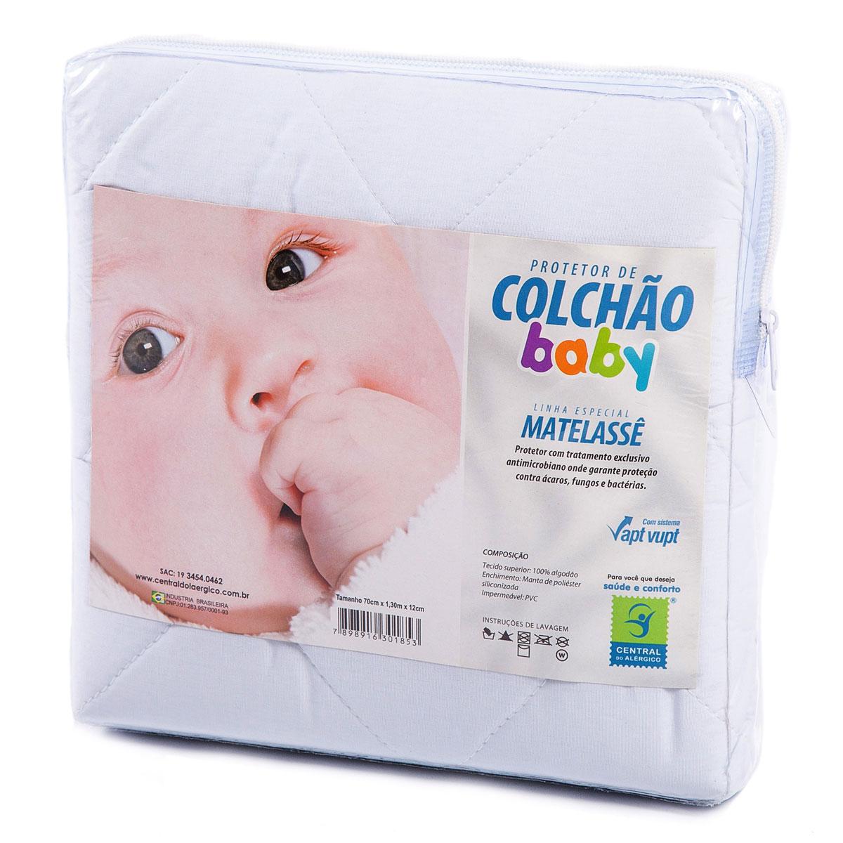 PROTETOR DE COLCHÃO 100% ALGODÃO BEBÊ IMPERMEÁVEL
