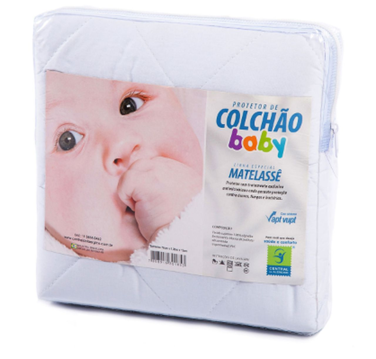 Protetor de Matelassê Impermeável de Colchão Bebê POLY/ALGODÃO Impermeável Vapt Vupt (Elástico)