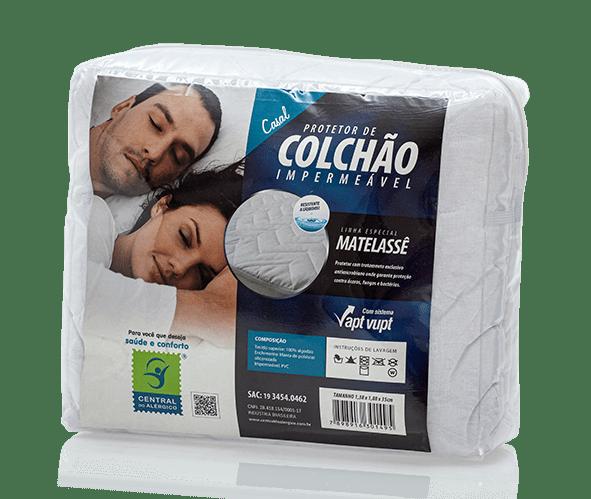 Protetor de Matelassê Impermeável de Colchão Casal 100% ALGODÃO VAPT VUPT (Elástico)