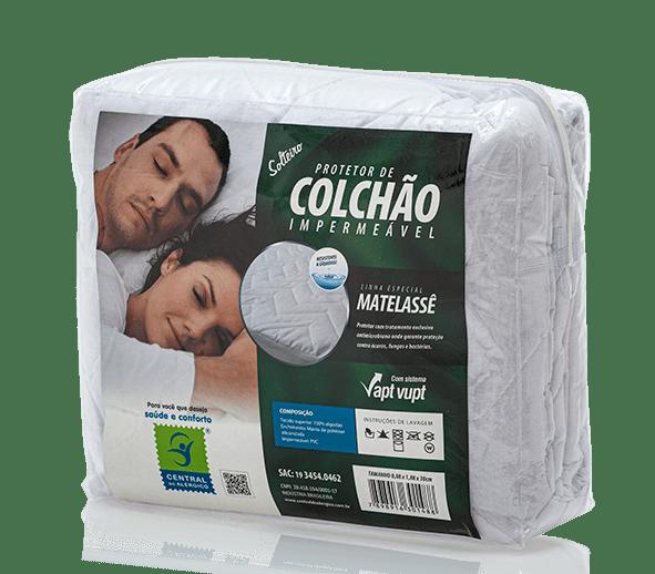 Protetor de Matelassê Impermeável de Colchão Solteiro 100% ALGODÃO VAPT VUPT (Elástico)