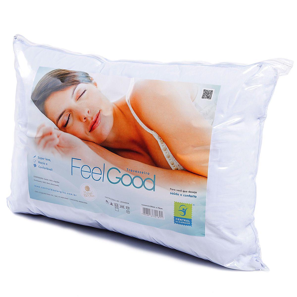 Travesseiro Adulto Antialérgico Feel Good