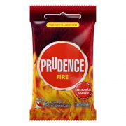 Preservativo Prudence Fire - 12 sachês