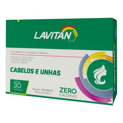 Lavitan Cabelos e Unhas - 30 Cápsulas  - Condomania