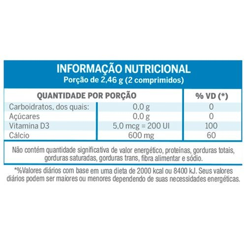 Lavitan Cálcio +D3 - 60 Comprimidos  - Condomania
