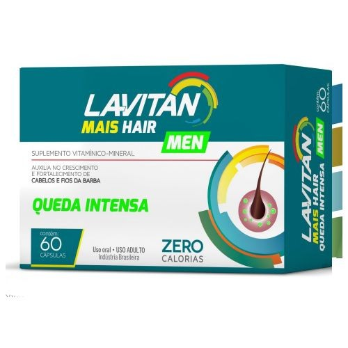 Lavitan MAIS HAIR MEN - 60 Comprimidos  - Condomania