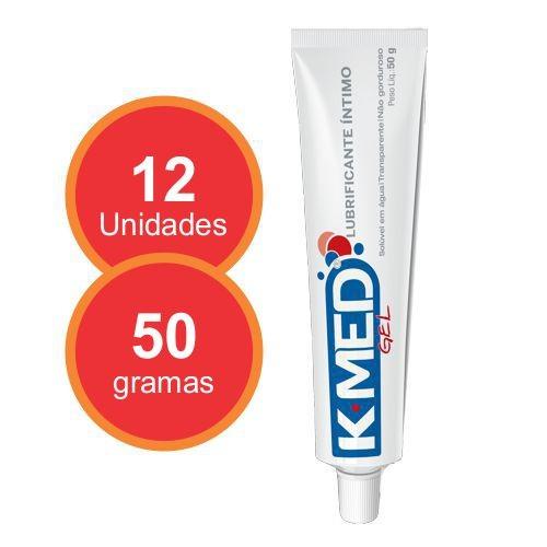 Lubrificante Íntimo Gel K-MED 50 g - 12 unidades  - Condomania