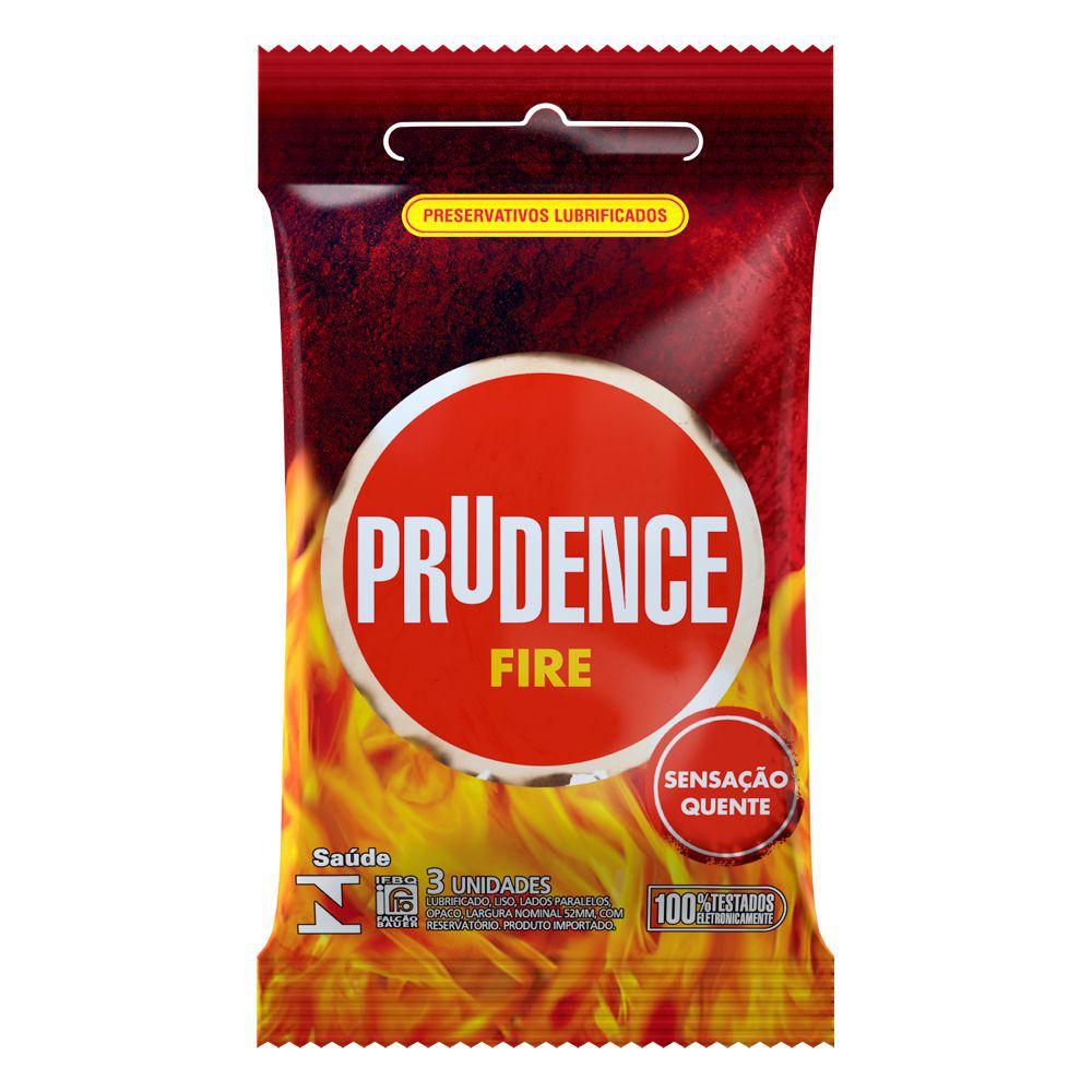 Preservativo Prudence Fire - 12 sachês  - Condomania