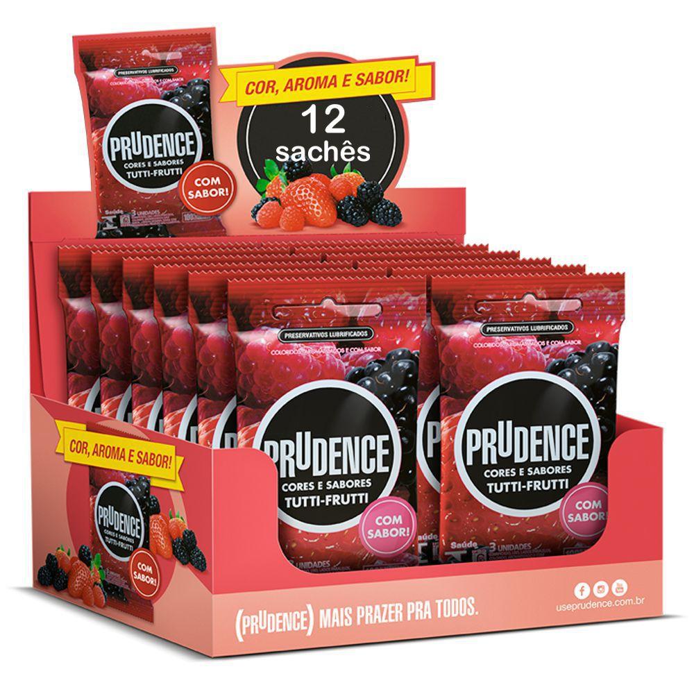 Preservativo Prudence Tutti Frutti - 12 unidades  - Condomania