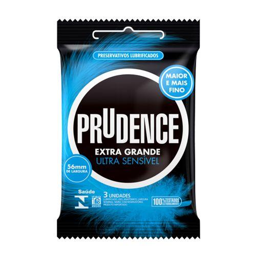 Preservativo Prudence Ultra Sensível Extra Grande  - Condomania