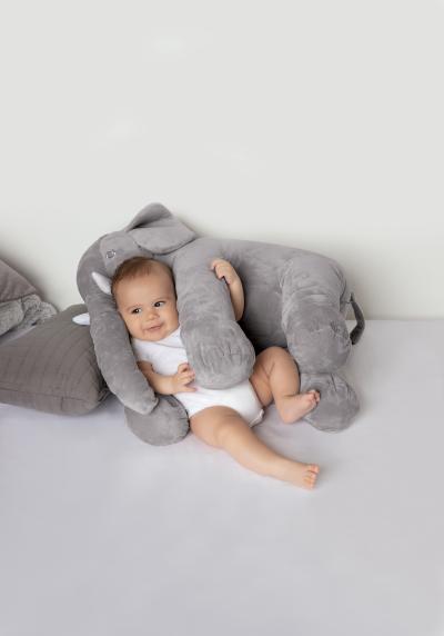 Almofada Elefante Gigante - Cinza