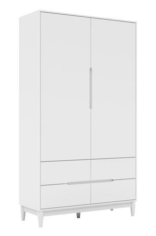 Armário Tomi 2  portas + 4 gavetas - Branco Fosco