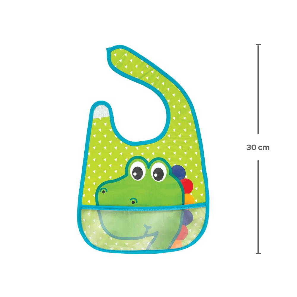Babador com Bolso - Dino