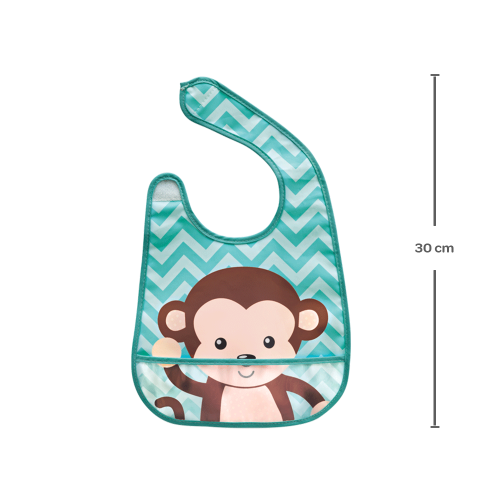 Babador com Bolso - Macaco