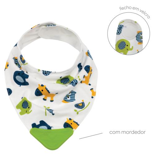 Bandana com Mordedor - Baby Zoo Verde