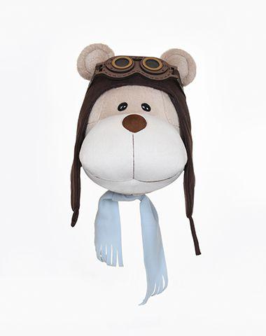 Cabeça de Urso Bochecha Aviador para Decoração