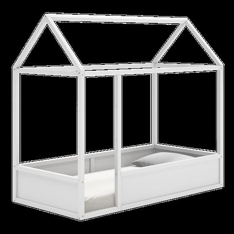 Cama Fun com telhado - Branco Fosco