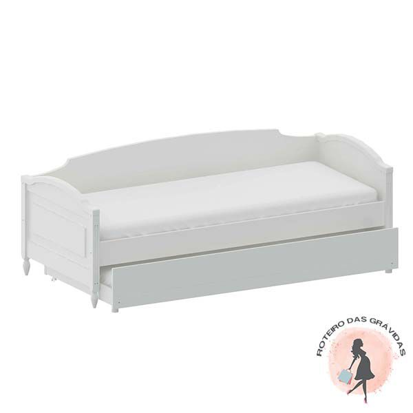 Cama Sofa La Vie com Encosto Branco Fosco