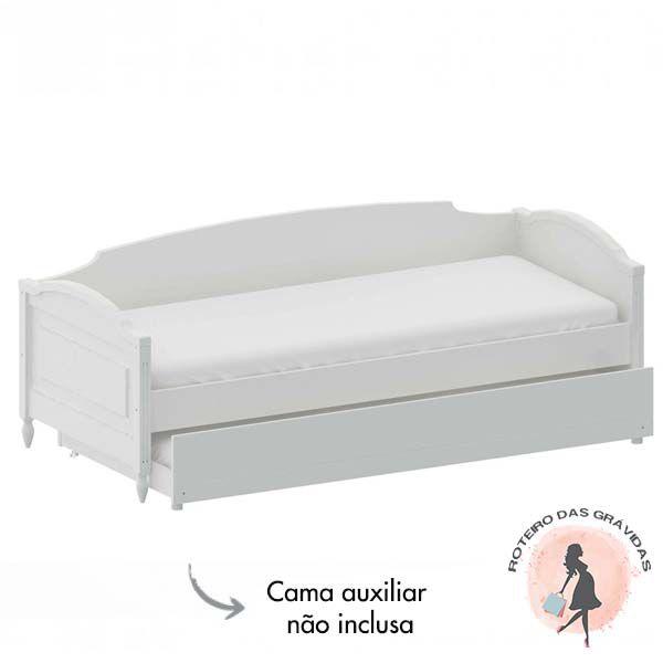 Cama Sofa La Vie com Encosto branco provençal