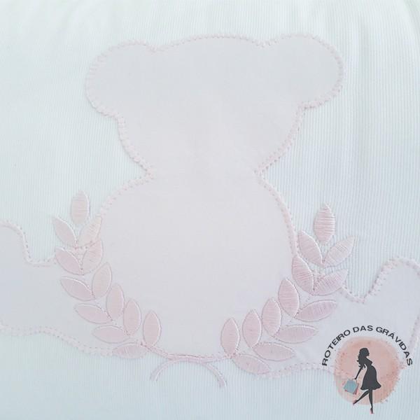 Kit berço Ursa rosa
