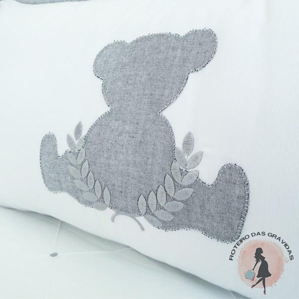 Kit Berço Urso Cinza