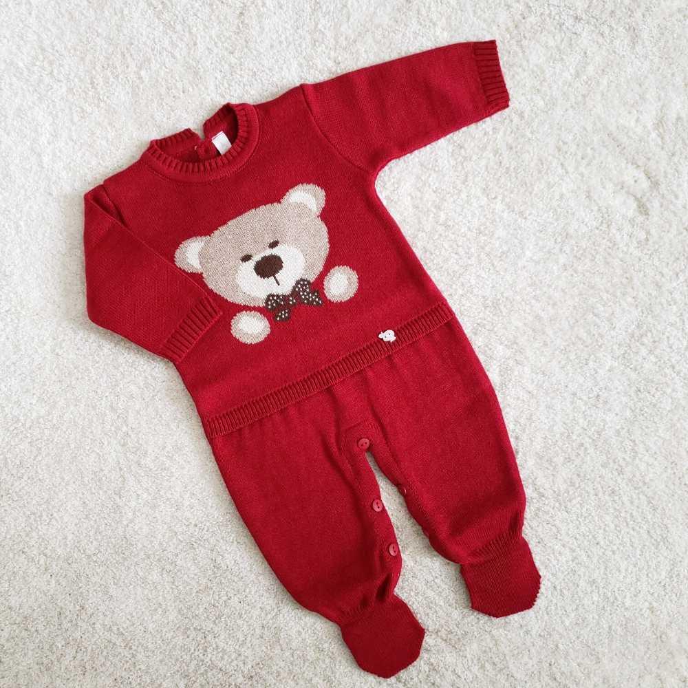 Macacão Urso - Vermelho