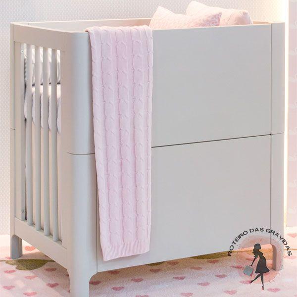 Mini berço Baby III – Branco Fosco