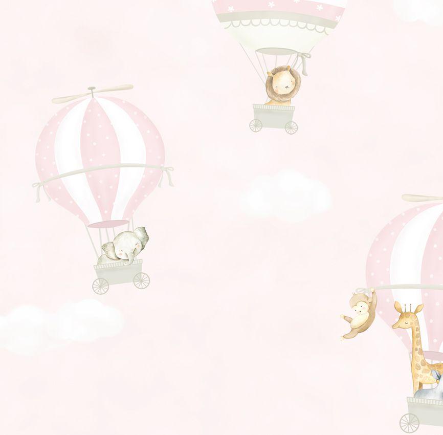 Papel de Parede - Balão Safári Rosa