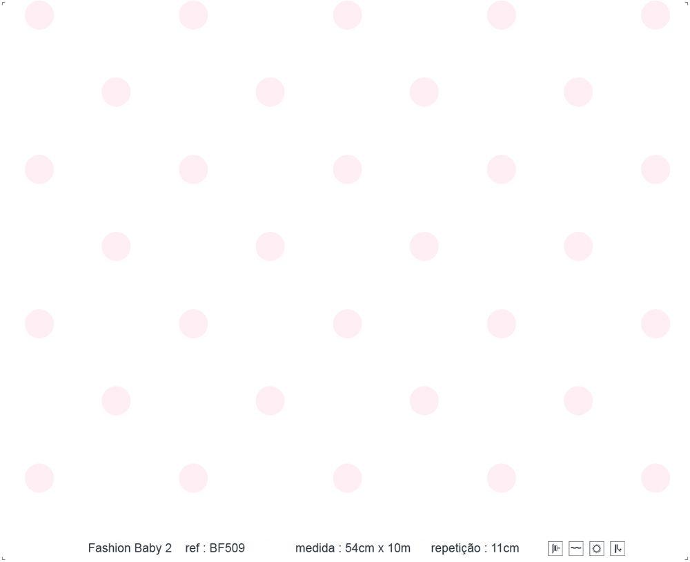 Papel de Parede - Bolinha Branco e Rosa