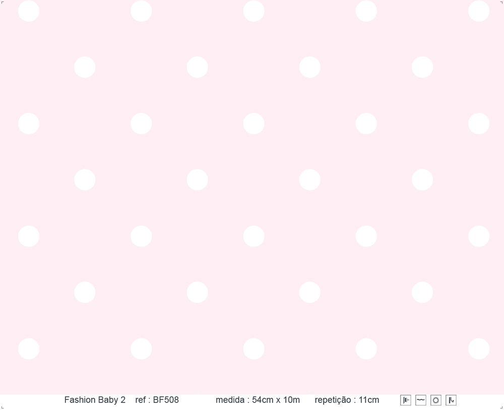 Papel de Parede - Bolinha Rosa