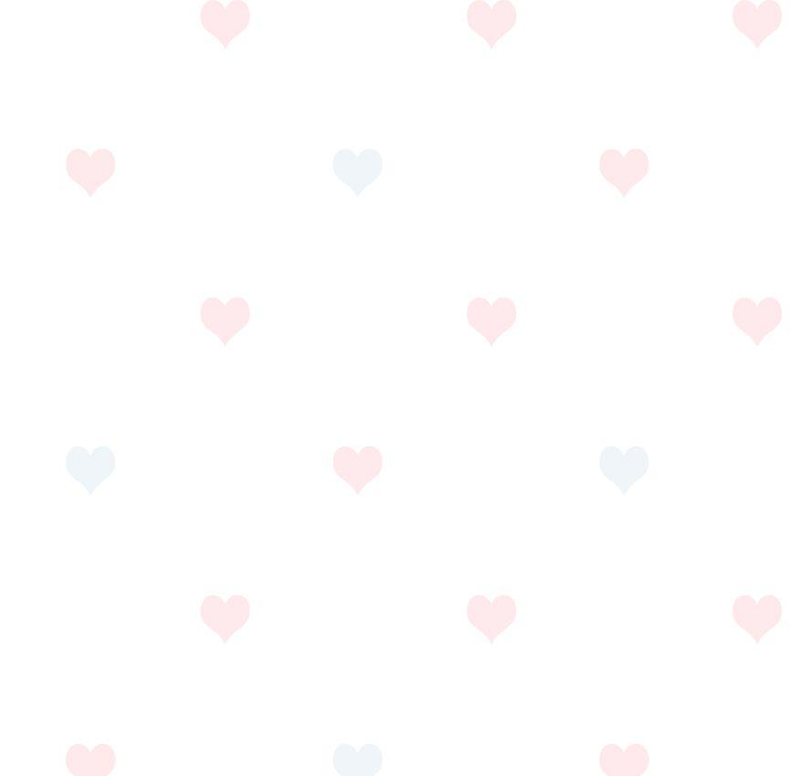 Papel de Parede - Coração Rosa e Cinza