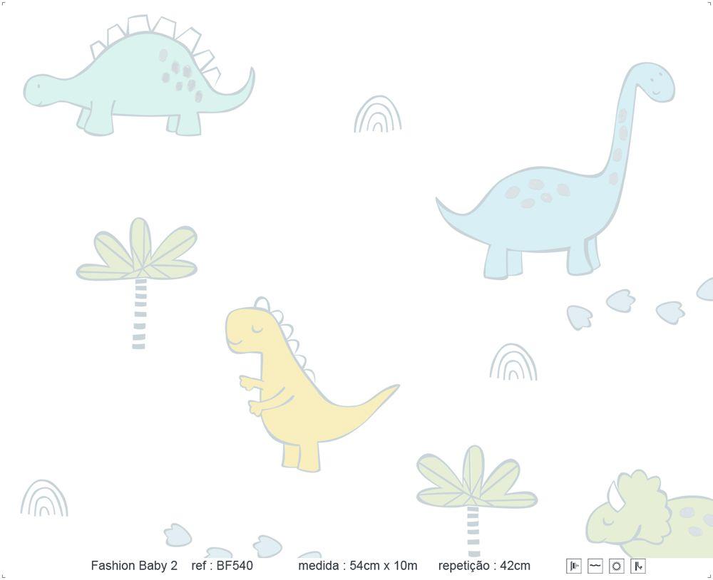 Papel de Parede - Dinossauro Colorido