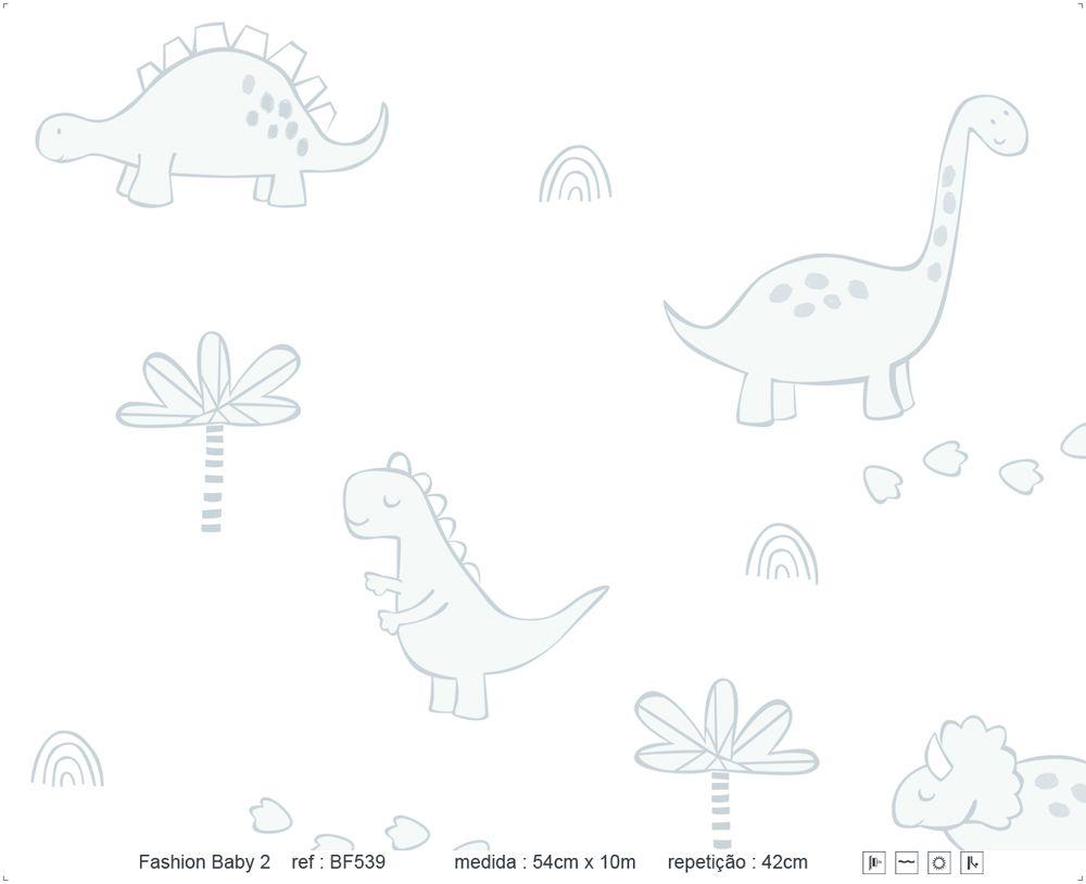 Papel de Parede - Dinossauro Riscado