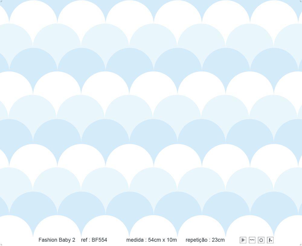 Papel de Parede - Escama Azul