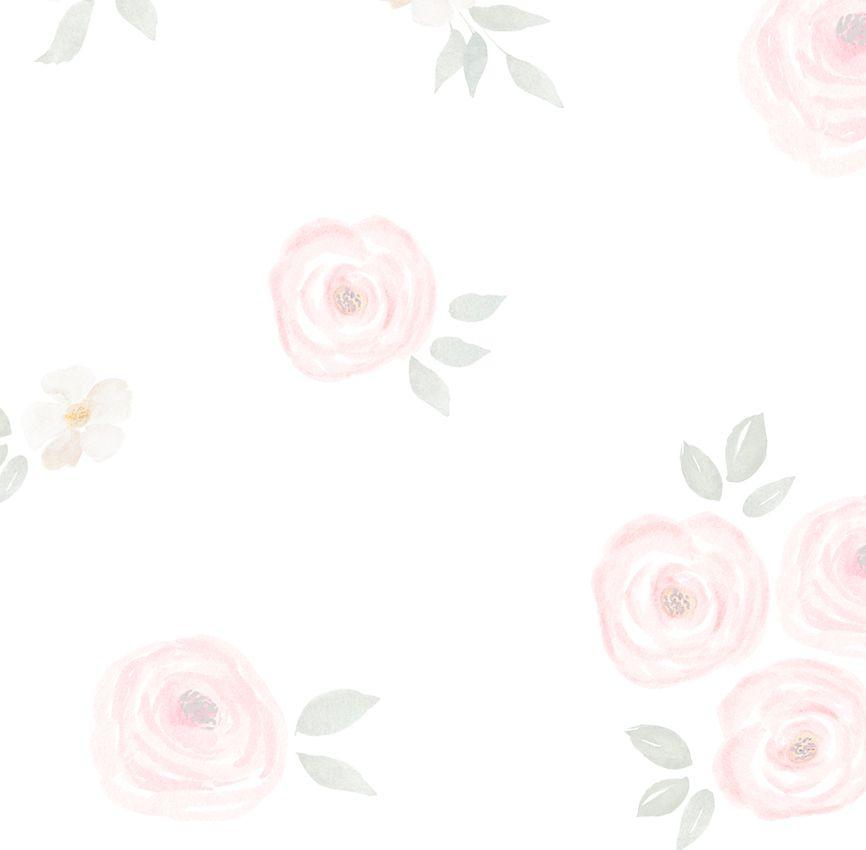 Papel de Parede - Flor Aquarela