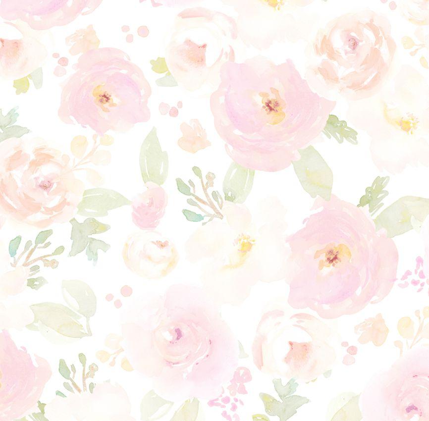 Papel de Parede - Flor Aquarela 2
