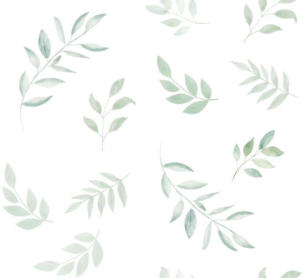 Papel de Parede - Folhas Aquarela